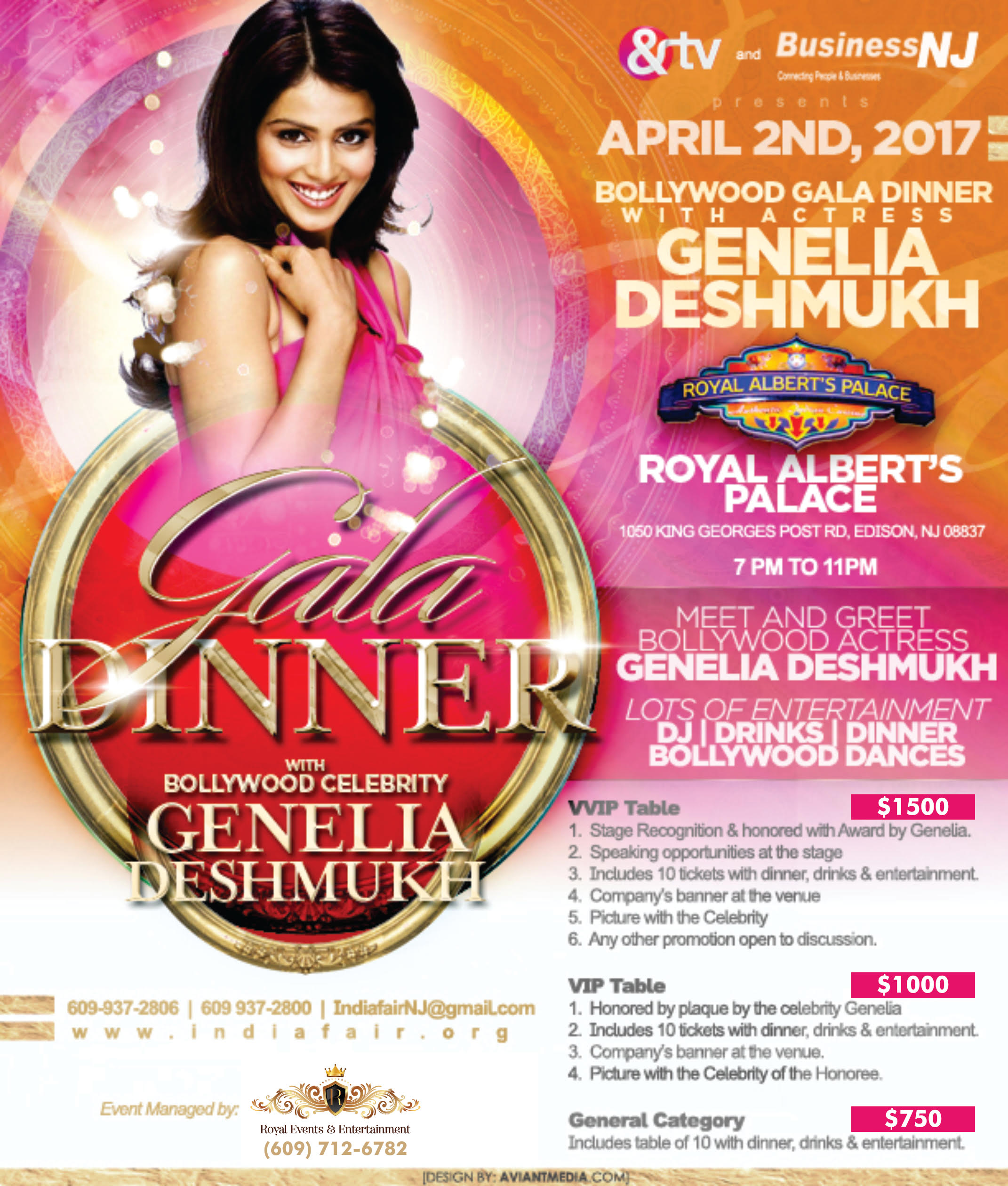 INDIA FAIR Gala Dinner with Genelia D'Souza Deshmukh