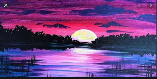 Paint and Sip Moonlight Virtual Painting Event!