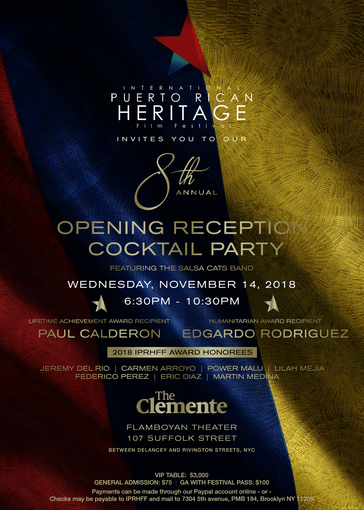 8th International Puerto Rican Heritage Film Festival Opening Reception