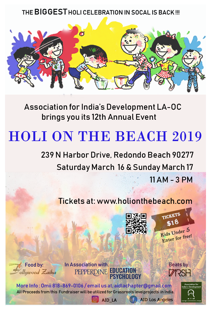 Holi on the Beach 2019 (Festival Of Colors LA-OC) on Sunday, March 17th
