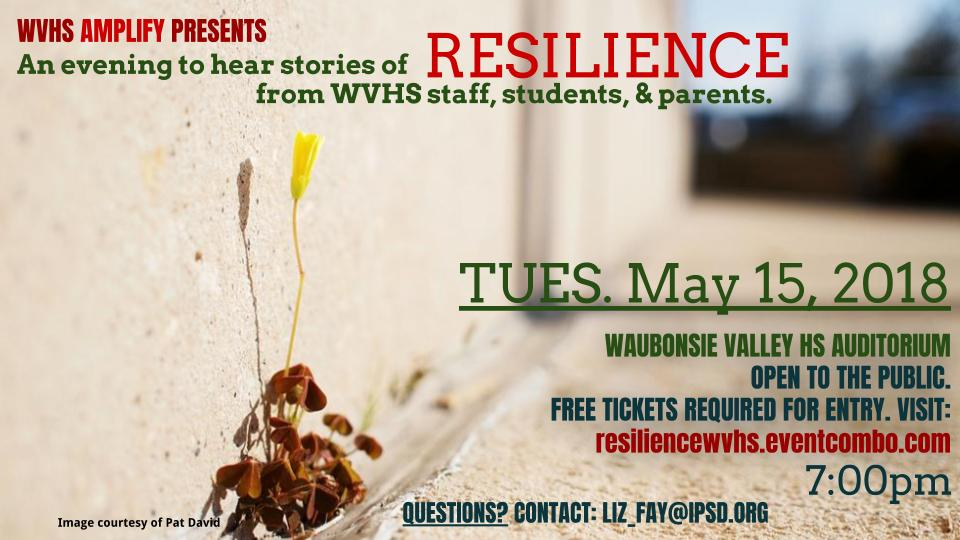 RESILIENCE: An Evening of WVHS Community Stories