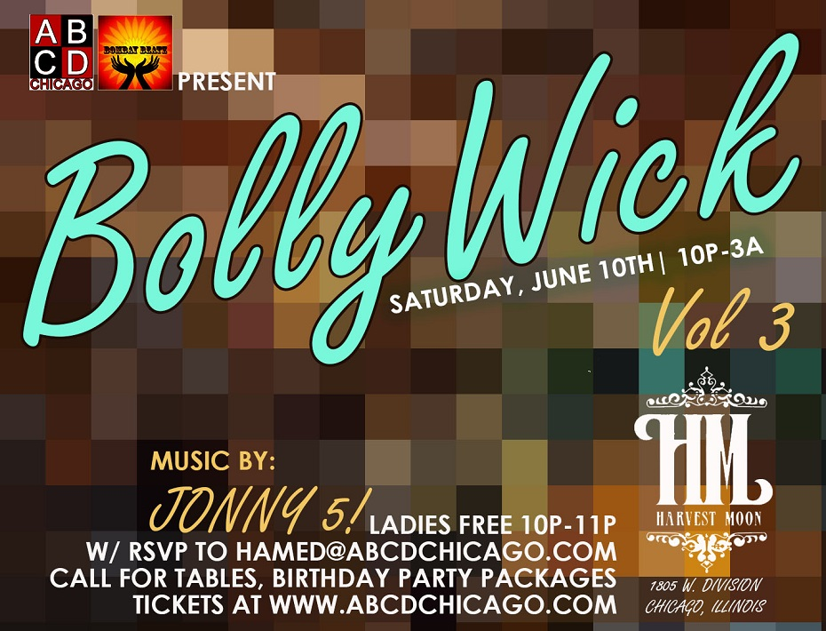 BollyWick Vol 3 - a Bollywood-Bhangra Dance Party