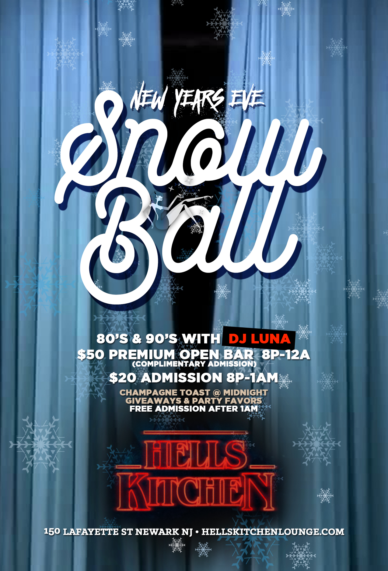 Snow Ball - HKL NYE in Newark New Year's Eve