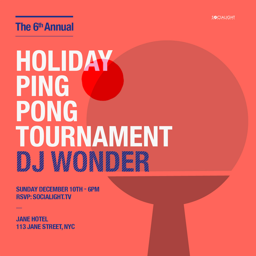 6th Annual Holiday Ping Pong Tournament