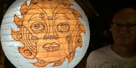 Atlanta BeltLine Lantern Parade Globe Lantern Workshop at the Carlos Museum