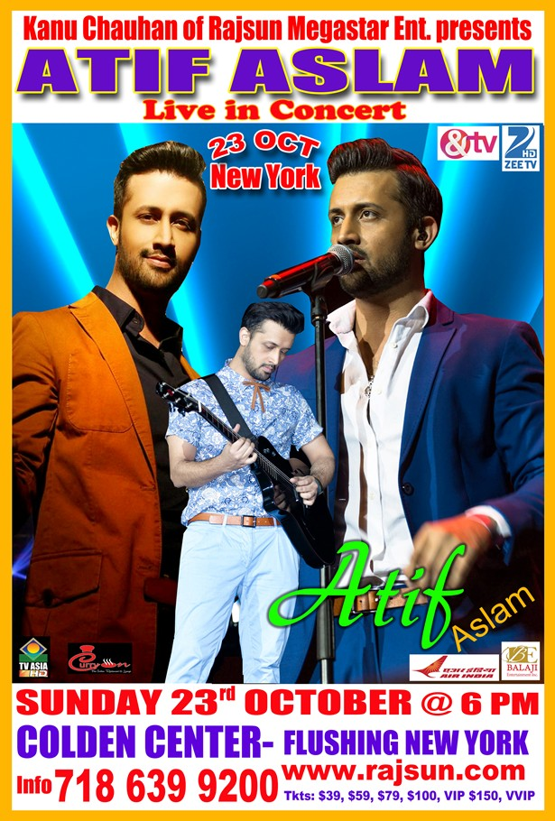 Atif Aslam Live in Concert October 2016 in Flushing, New York
