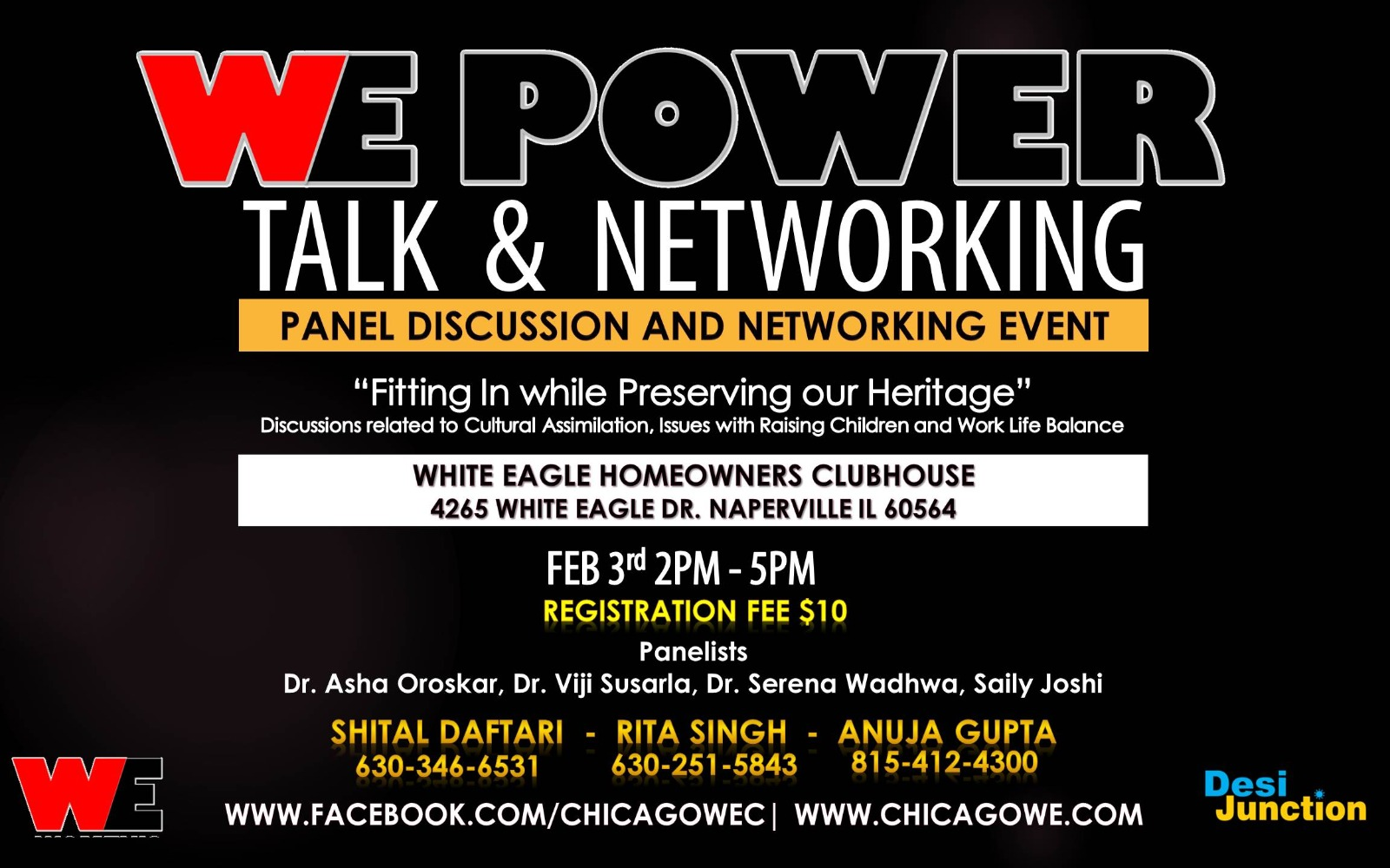 WE Power Talk and Networking Event