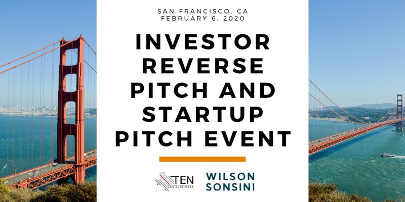 [TEST EVENT] San Francisco: TEN Capital Investor Reverse Pitch & Startup Pitch Event