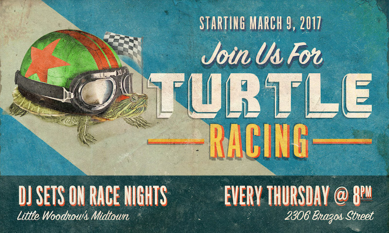 9th Season of Turtle Races at Little Woodrow's Midtown