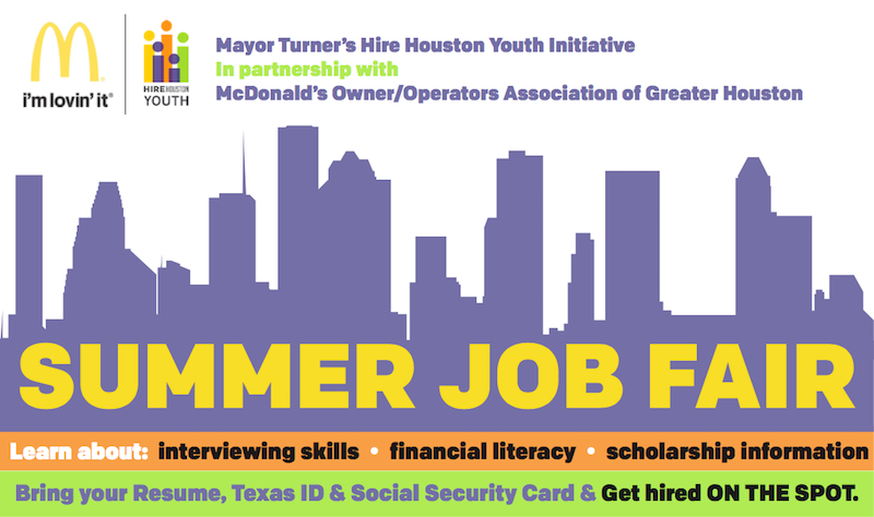Hire Houston Youth On-the-Spot Hiring Job Fair Series