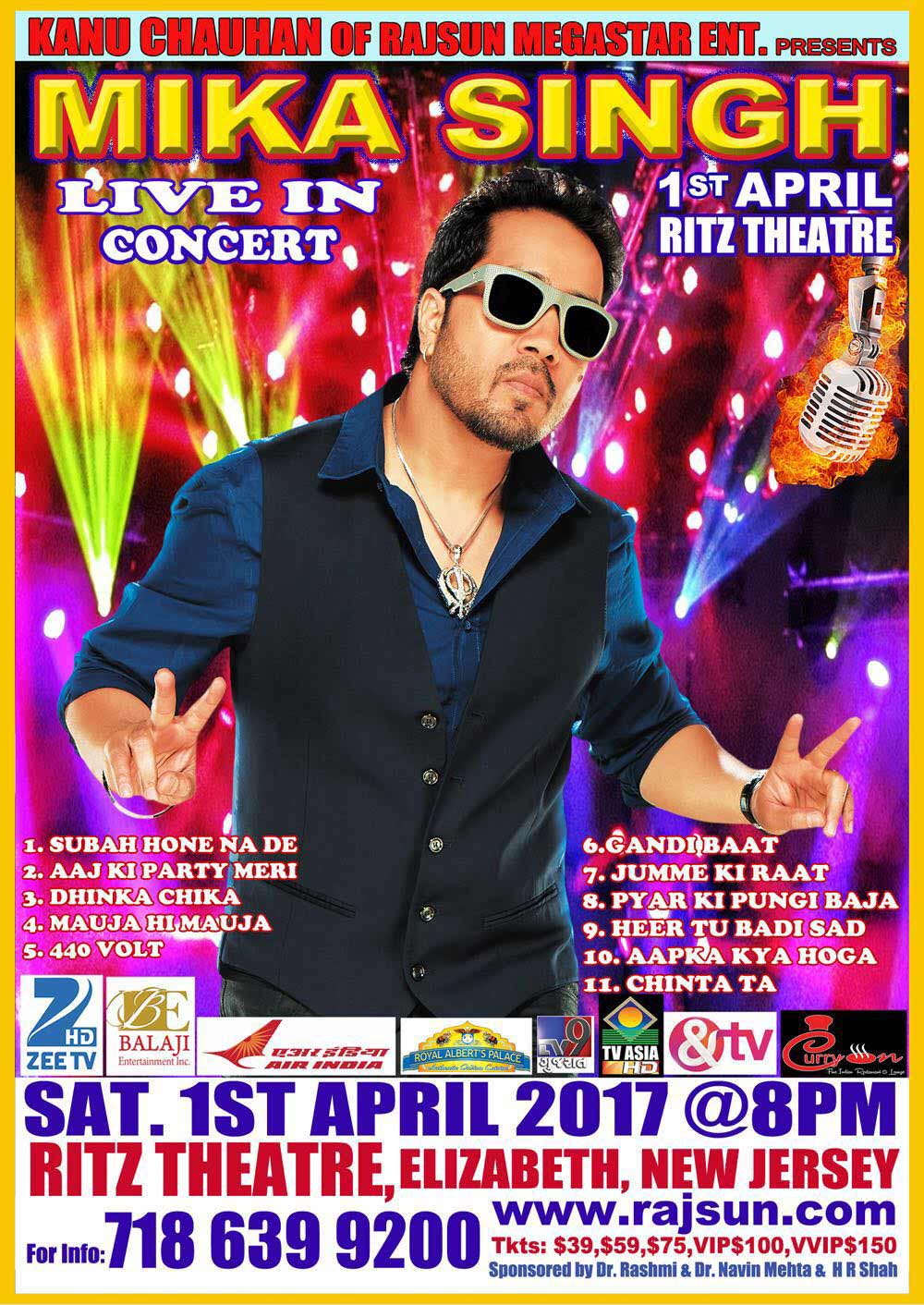 Mika Singh Live in Concert in New Jersey 2017