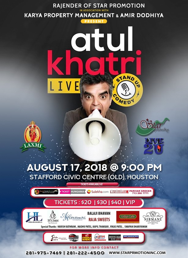Atul Katri Stand up Comedy 2018 Houston