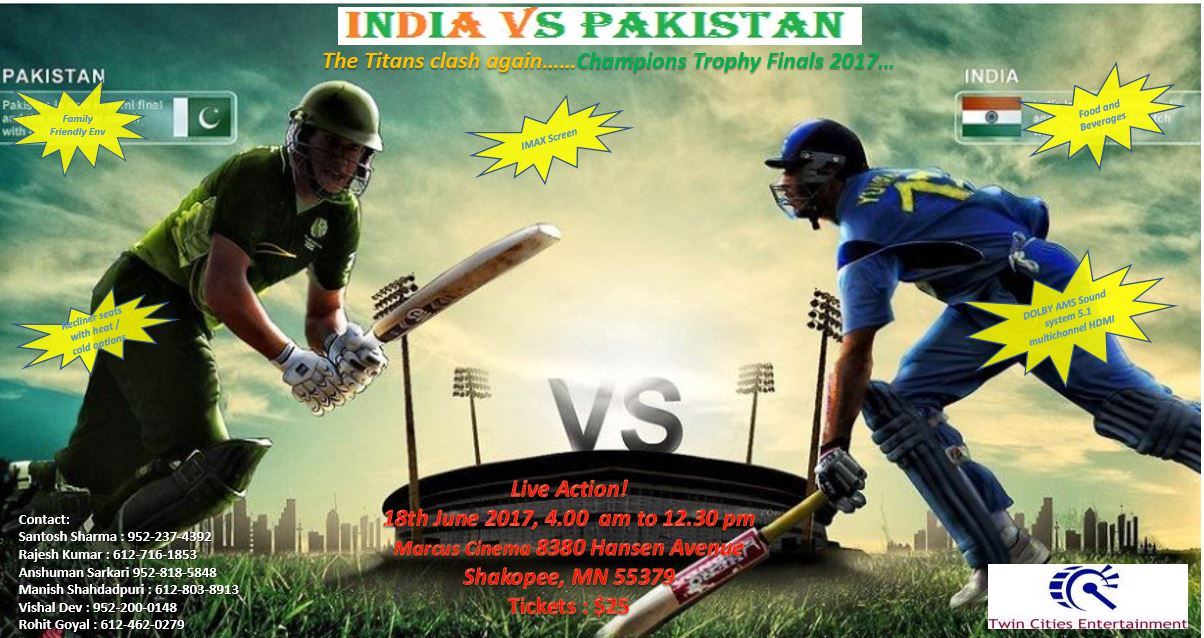 Champions Trophy Finals - India Vs Pakistan