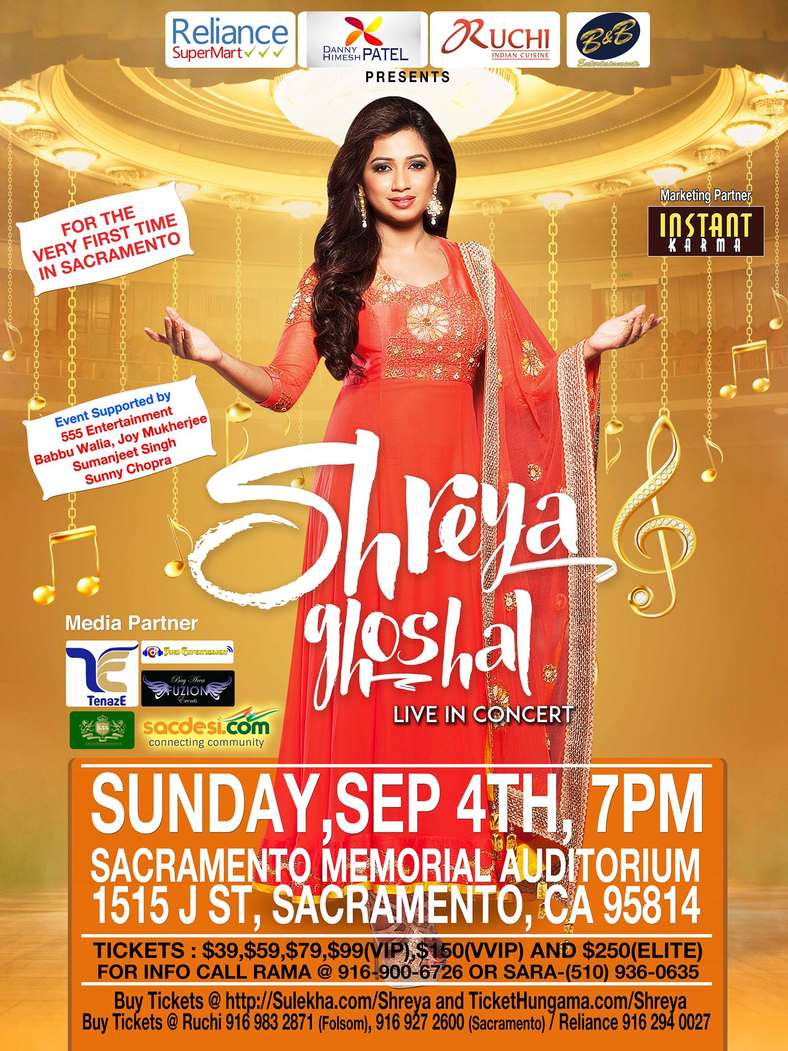 Shreya Ghoshal Live in Sacremento