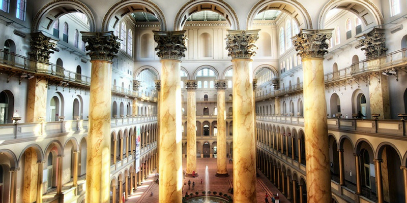 Yoga at the National Building Museum + Historic Museum Tour