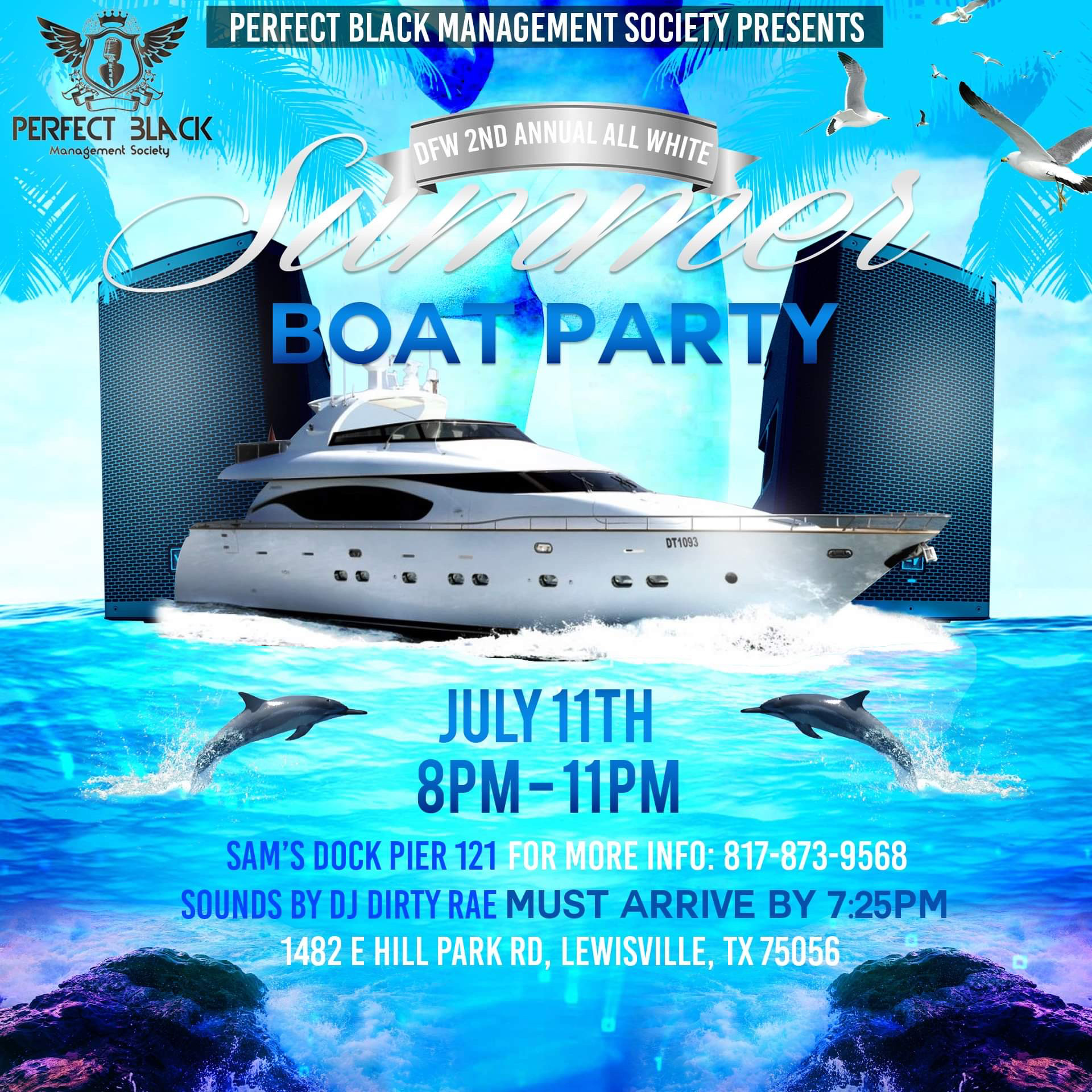 DFW's 2nd Annual ALL WHITE Summer Boat Party