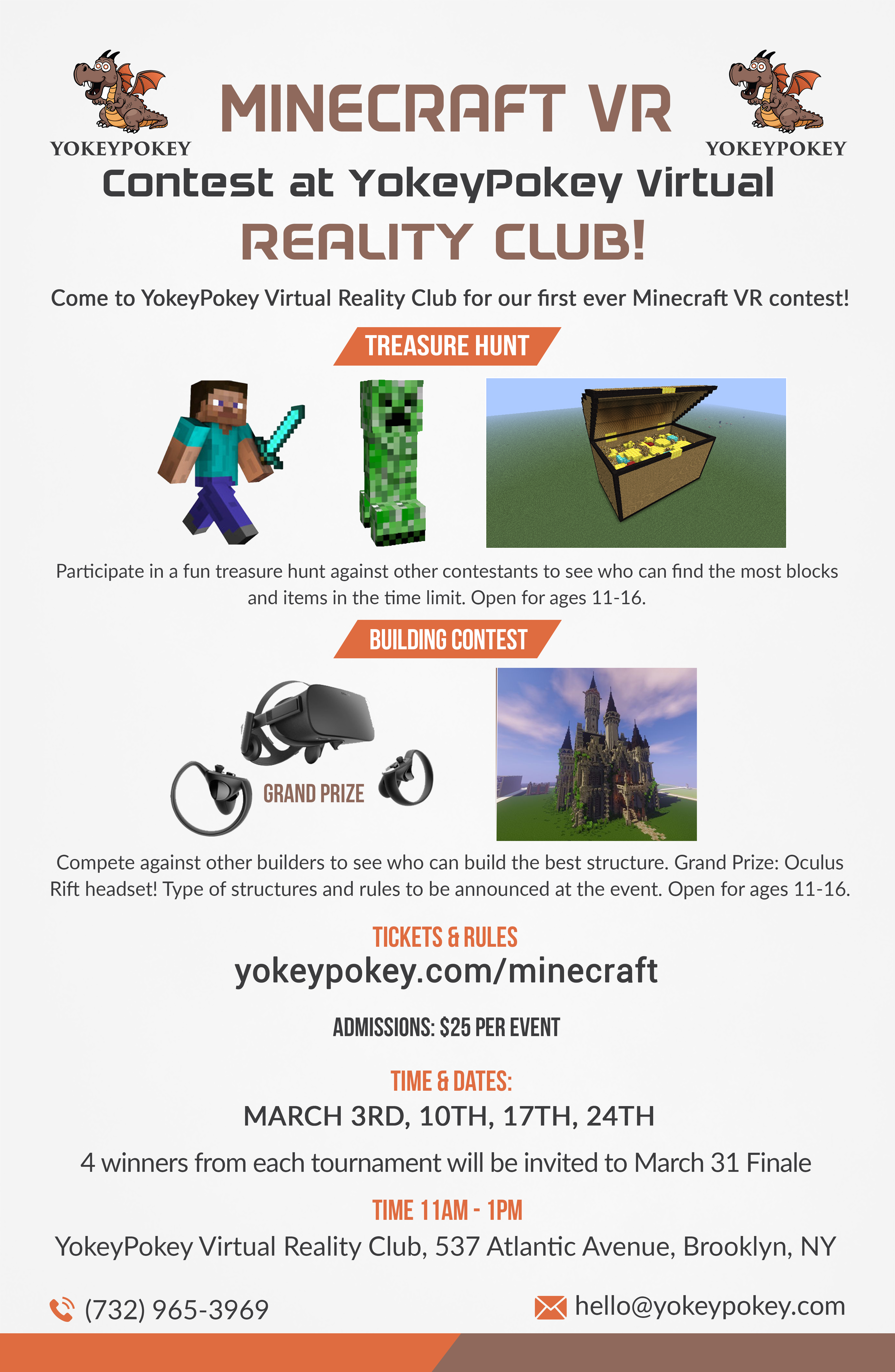 Minecraft VR Tournament - Grand Prize Oculus Rift