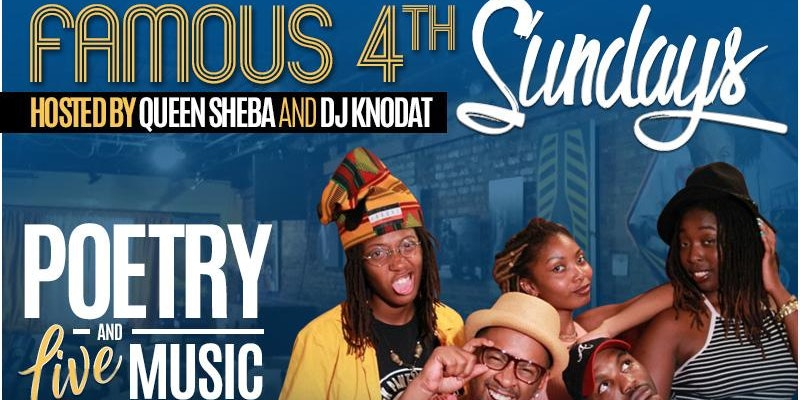Word is Born Poetry Open Mic: Famous 4th Sundays w/Queen Sheba & Dj Knodat