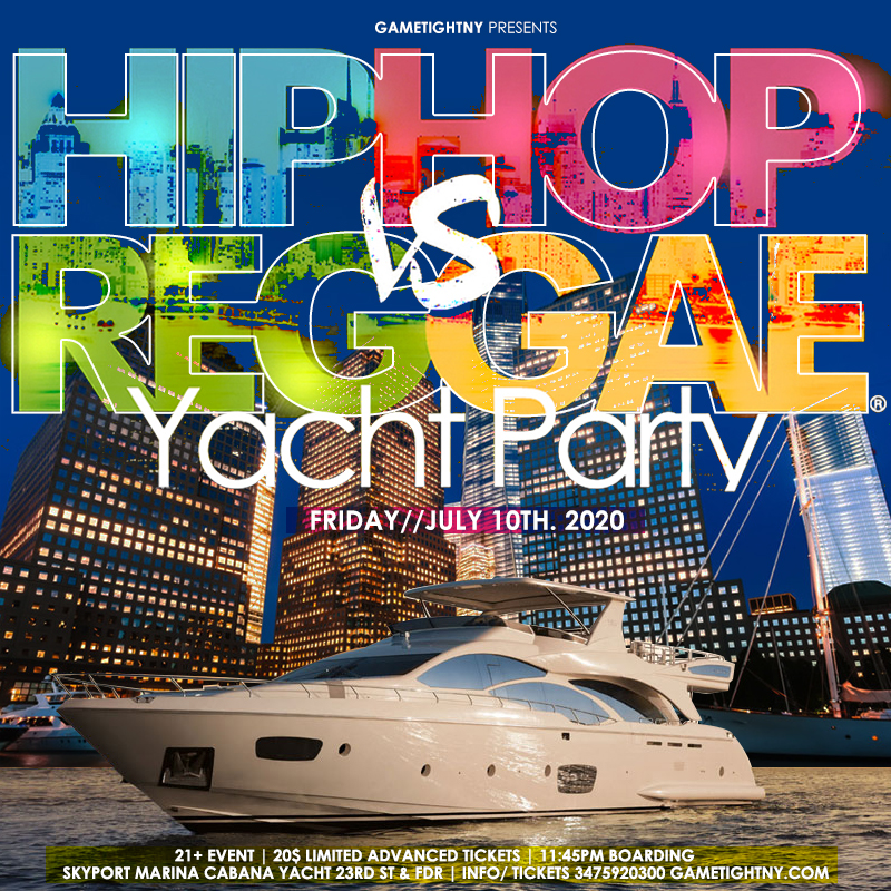 Manhattan Hip Hop vs. Reggae® Midnight Yacht Party at Skyport Marina Cabana 2020