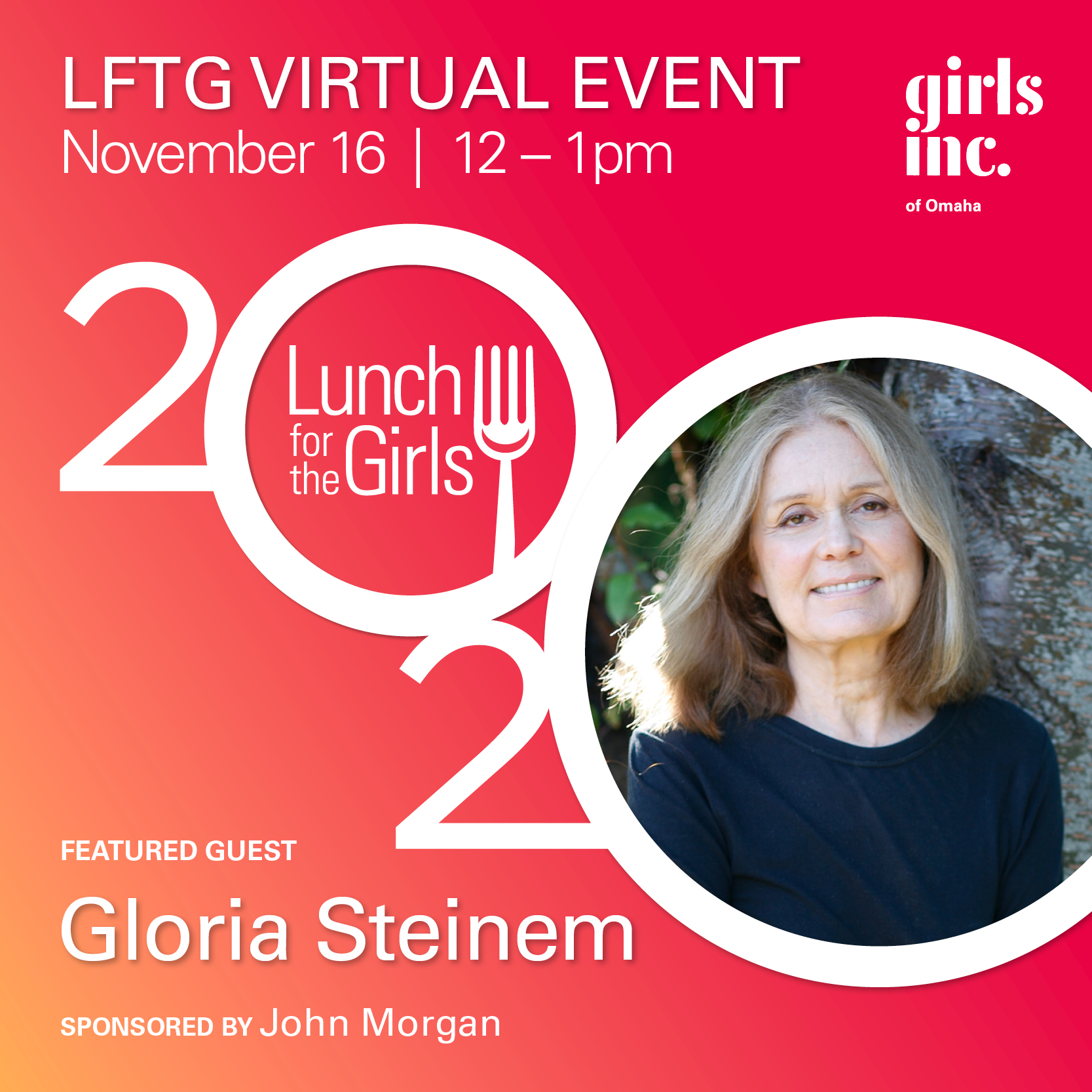 Lunch for the Girls 2020 with Gloria Steinem