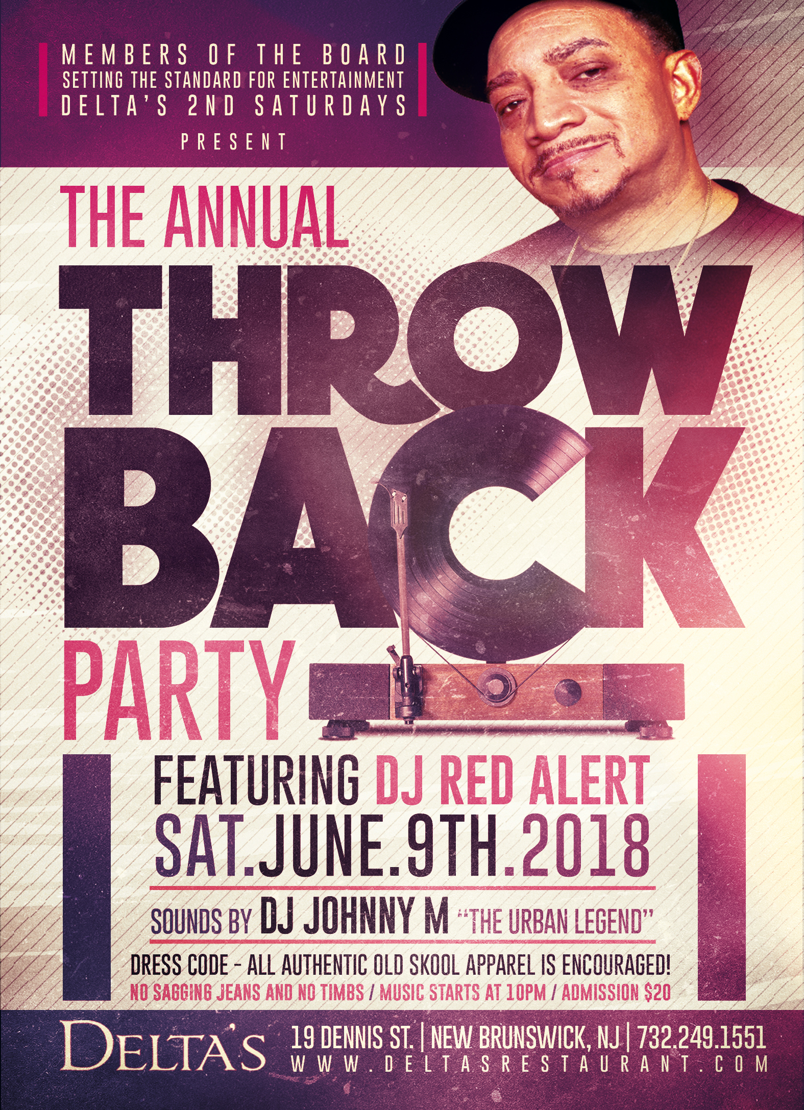 Throwback Party @ Deltas feat. Red Alert - Early Bird Tickets