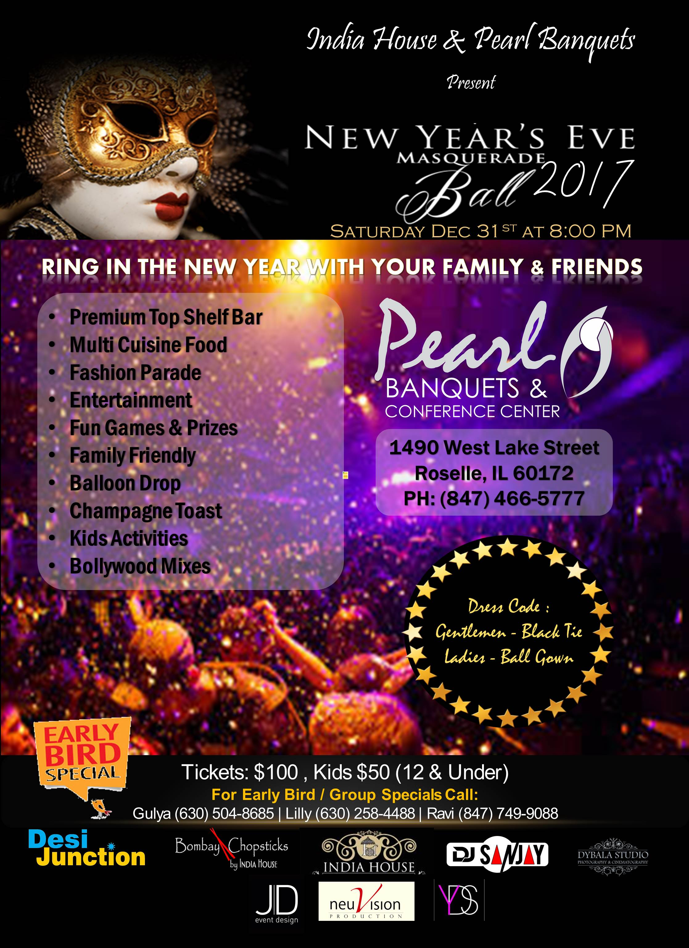 NYE PARTY 2017 AT PEARL BANQUETS!!!