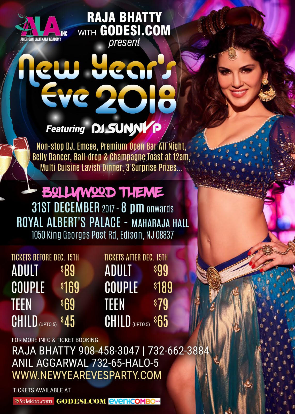 New Year's Eve 2018 Featuring DJ SunnyP at Royal Albert's Palace in New Jersey