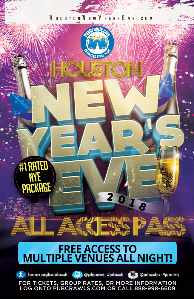Houston All Access Party Pass New Year's Eve 2018