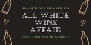 The All White Wine Affair!