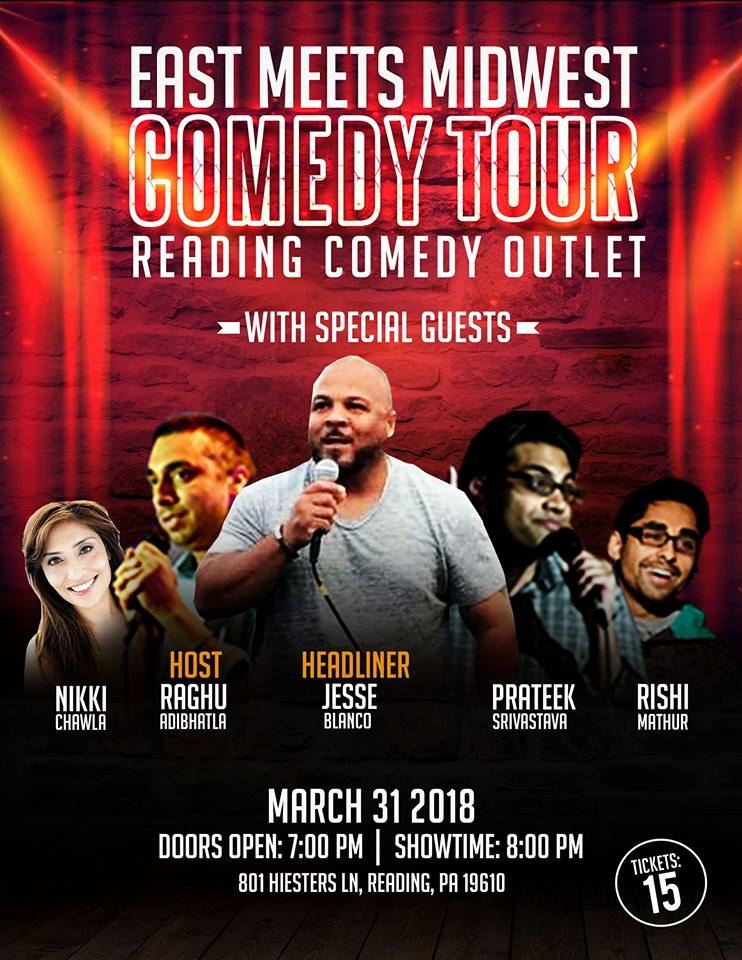 East Meets Midwest Comedy - PA