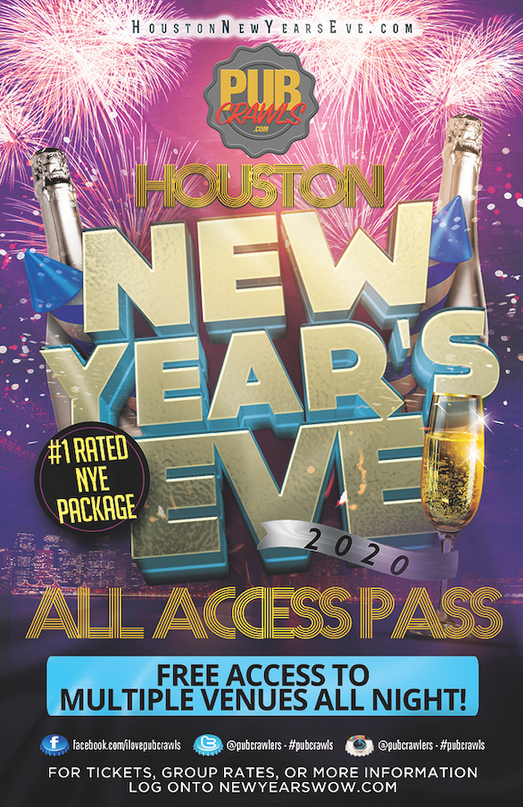 Houston New Year's Eve All Access Pub Crawl Pass
