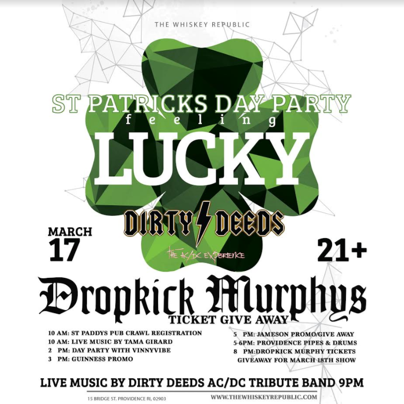 "St. Patrick's Day ""Feeling Lucky"" At Whiskey Republic"