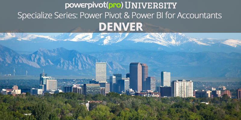 Specialize Series: Power Pivot & Power BI for Accountants - Denver
