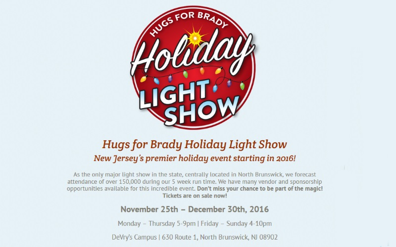 Hugs for Brady Holiday Light Show