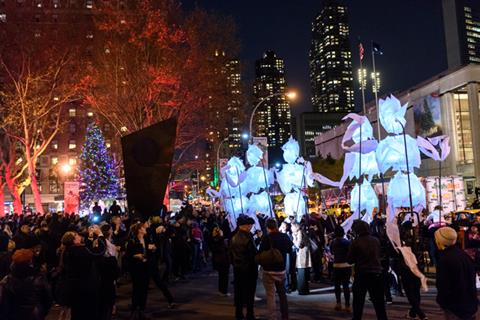 Experience Winter's Eve At NY's Lincoln Square