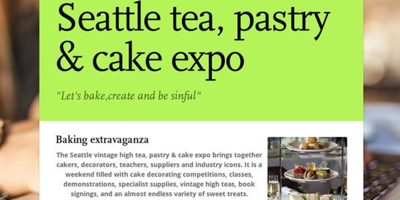 Seattle vintage high tea, pastry & cake expo