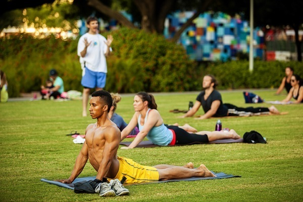 Hatha Yoga at Discovery Green