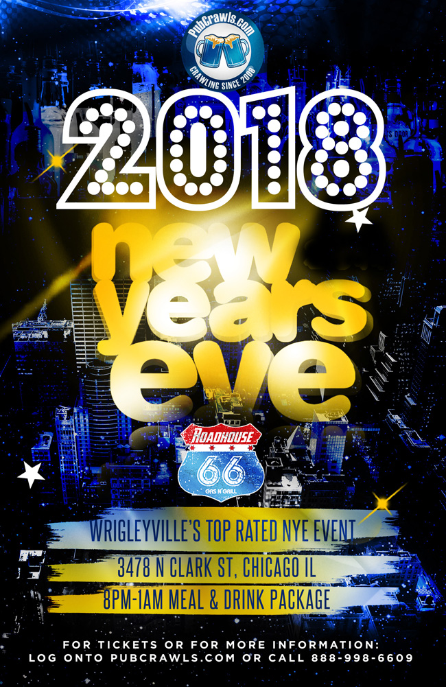 Roadhouse 66 New Year's Eve 2018 in Chicago