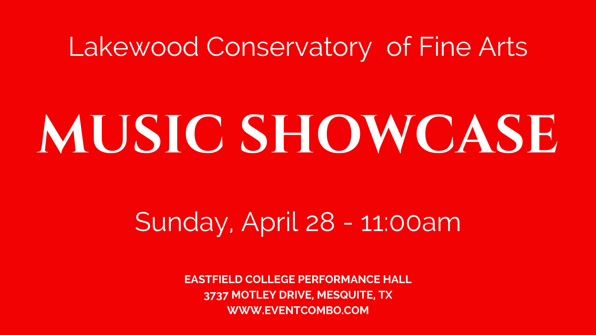 Music Showcase - Lakewood Conservatory of Fine Arts