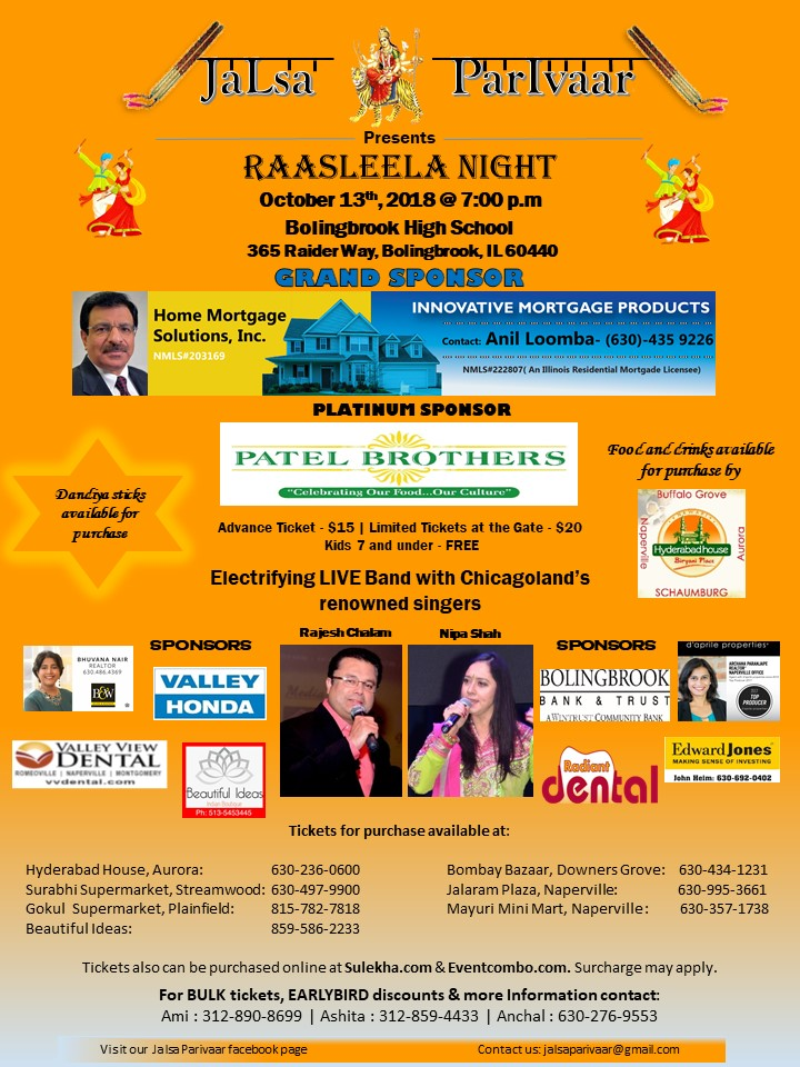 RaasLeela Night - Garba & Dandiya