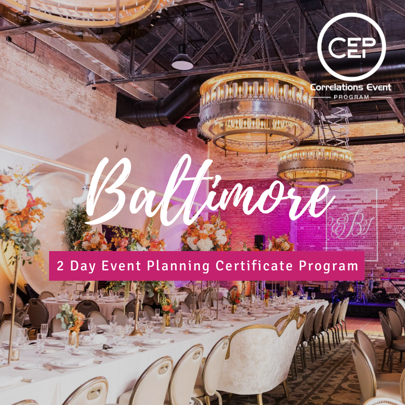 2 Day Baltimore Event Planning Certificate Program