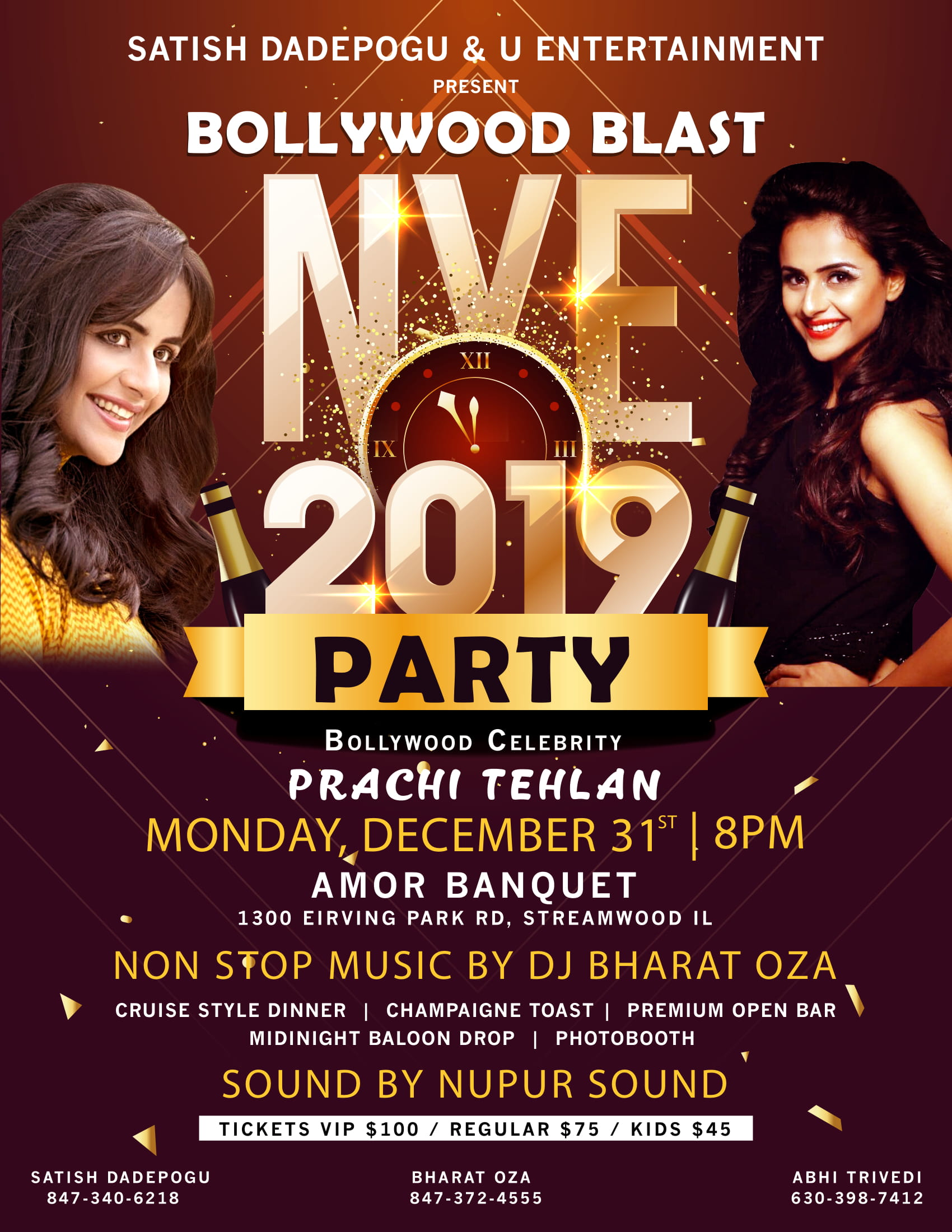 Bollywood Blast with Prachi Tehlan NYE 2019 Chicago