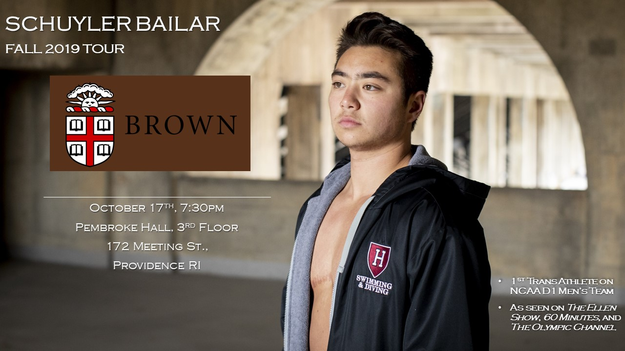 Schuyler Bailar Speaks at Brown