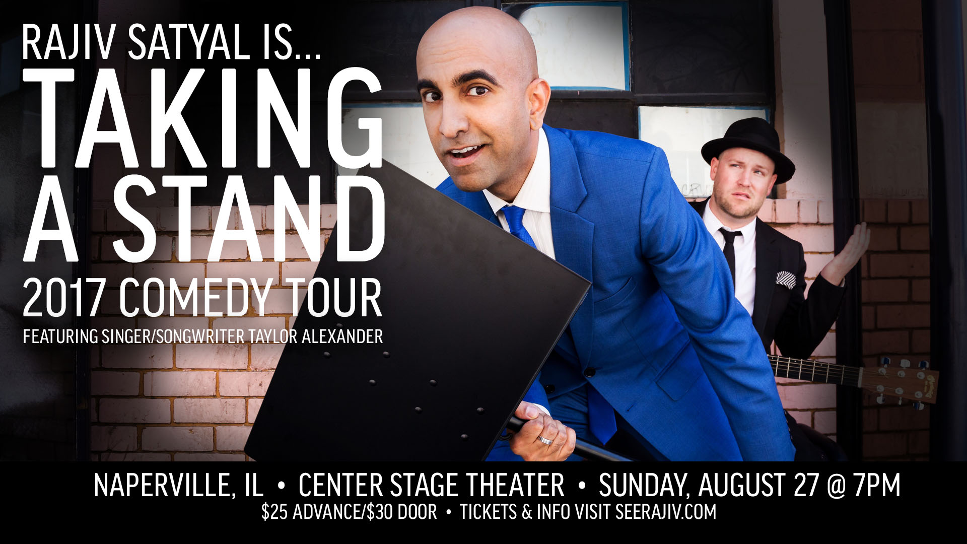 Rajiv Satyal's Taking a Stand Comedy Tour - Naperville Chicago