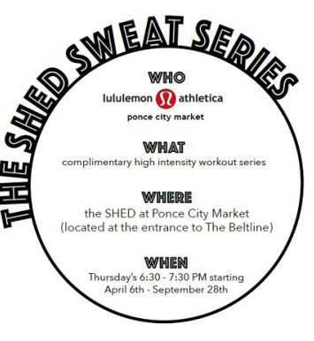 Lululemon at Ponce City Market Sweat Shed Series