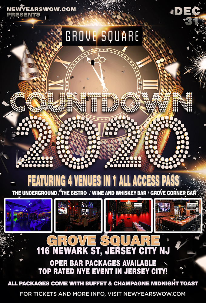 Grove Square NYE 2020 in Jersey City
