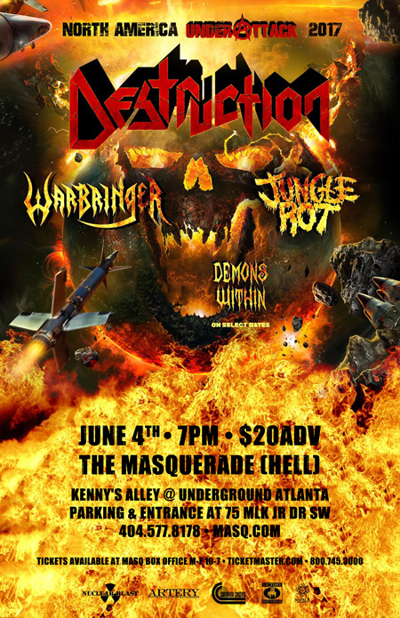 Destruction w/ Jungle Rot, Warbringer, and Demons Within