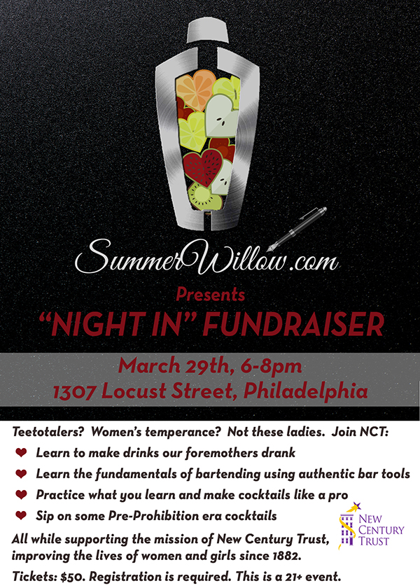 """Night In"" Cocktail Fundraiser"