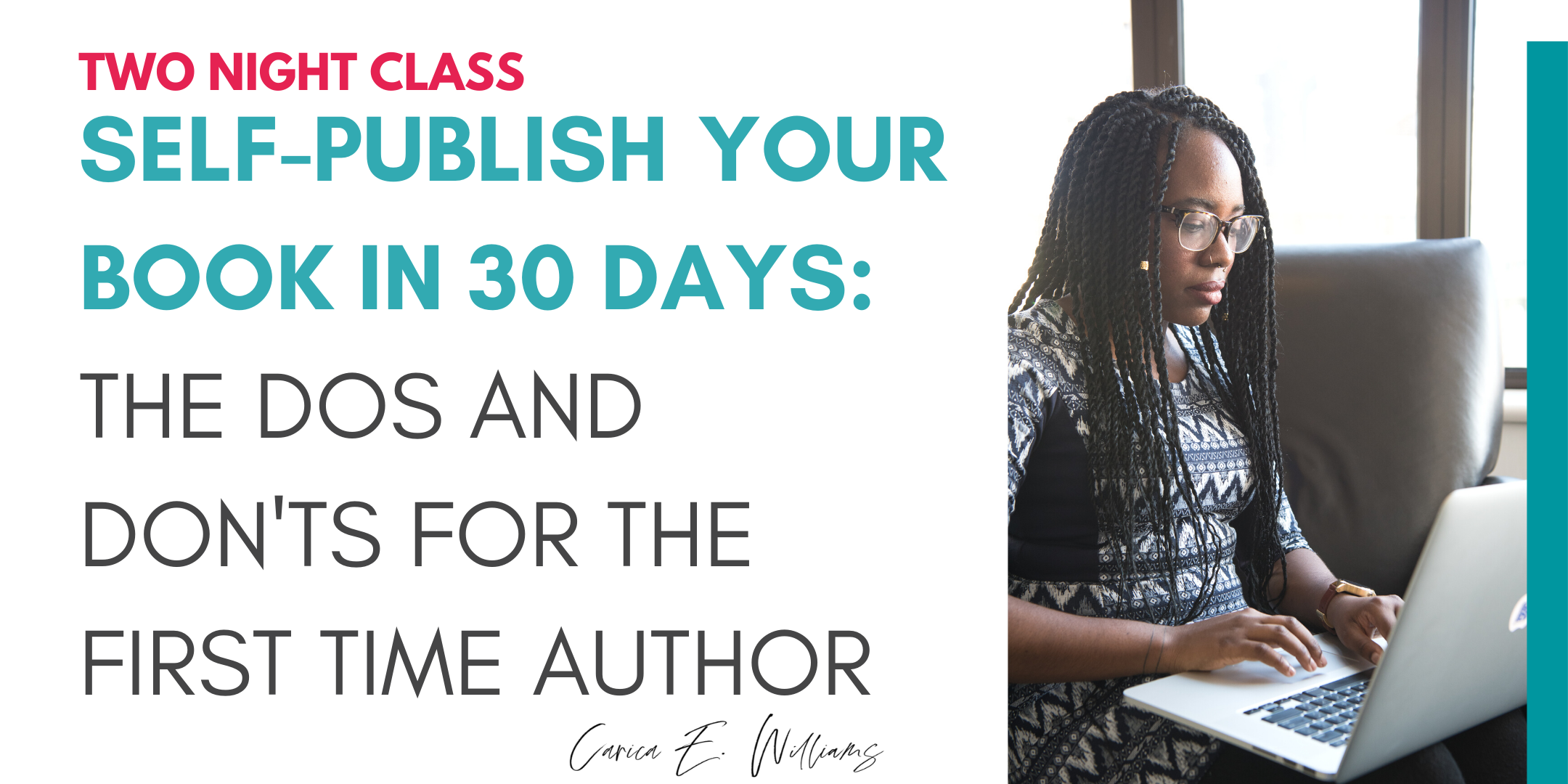 Self-Publish Your Event in 30 Days: The Dos and Don'ts for the 1st Time Author