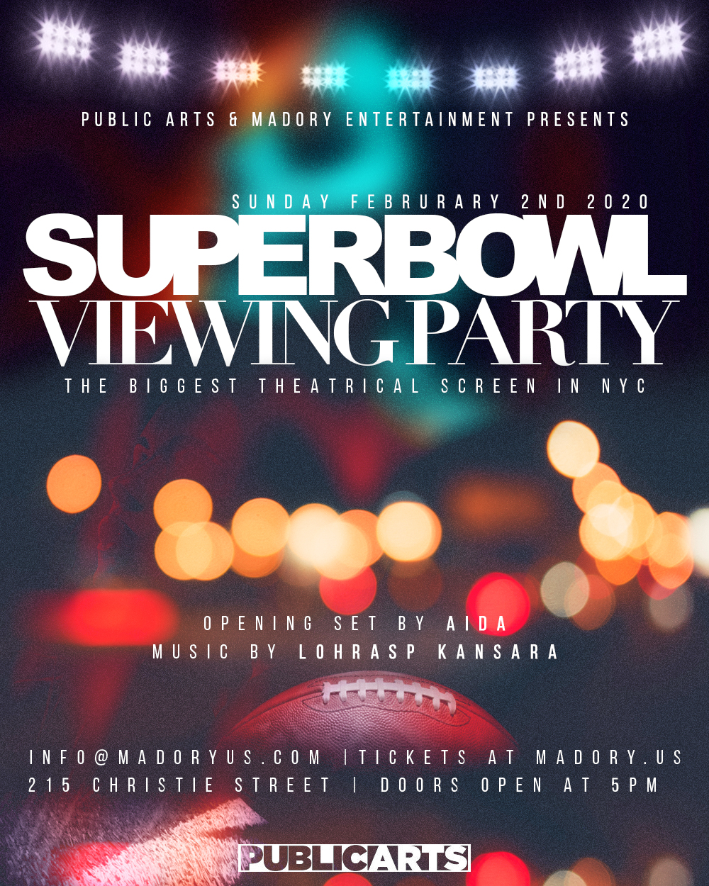 Superbowl Viewing party!